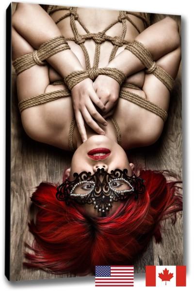 Tied Girl on Floor, Portrait, USA