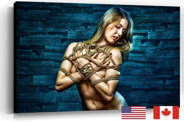 Tied Up Topless Beauty, USA