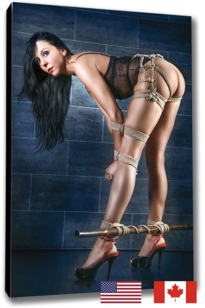 Arms Bound to Leg, Bamboo Pole - USA
