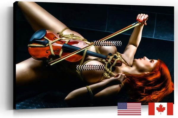 Topless Violin Play, USA