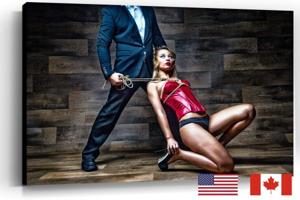 BDSM Couple Rope Submission, USA