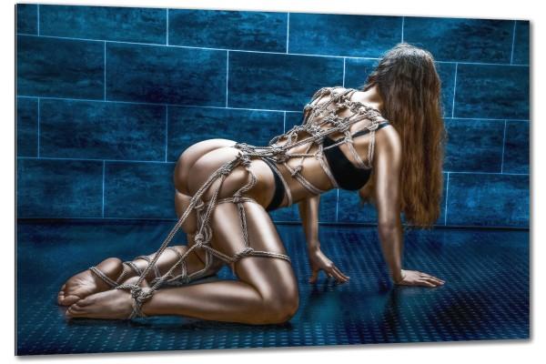 Tied up, Kneeling Rope Harness